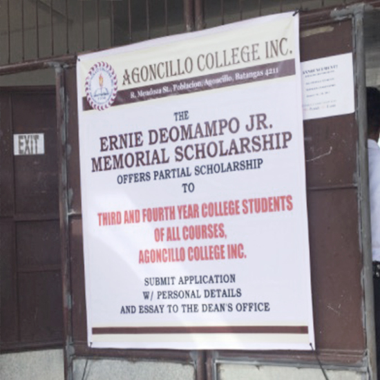 The Ernie Deomampo Jr. Memorial Scholarship